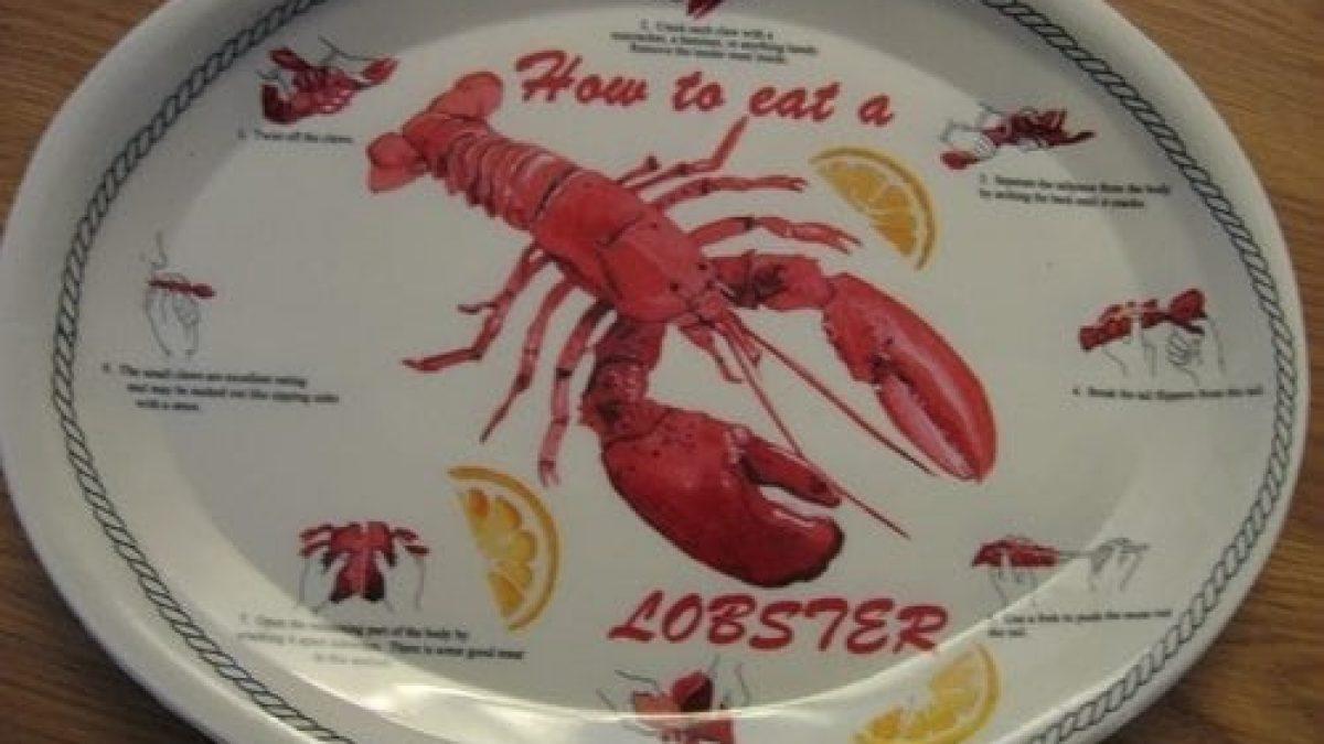 Set of Four Lobster Ceramic Platters